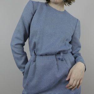 Vintage 70s/80s houndstooth dress